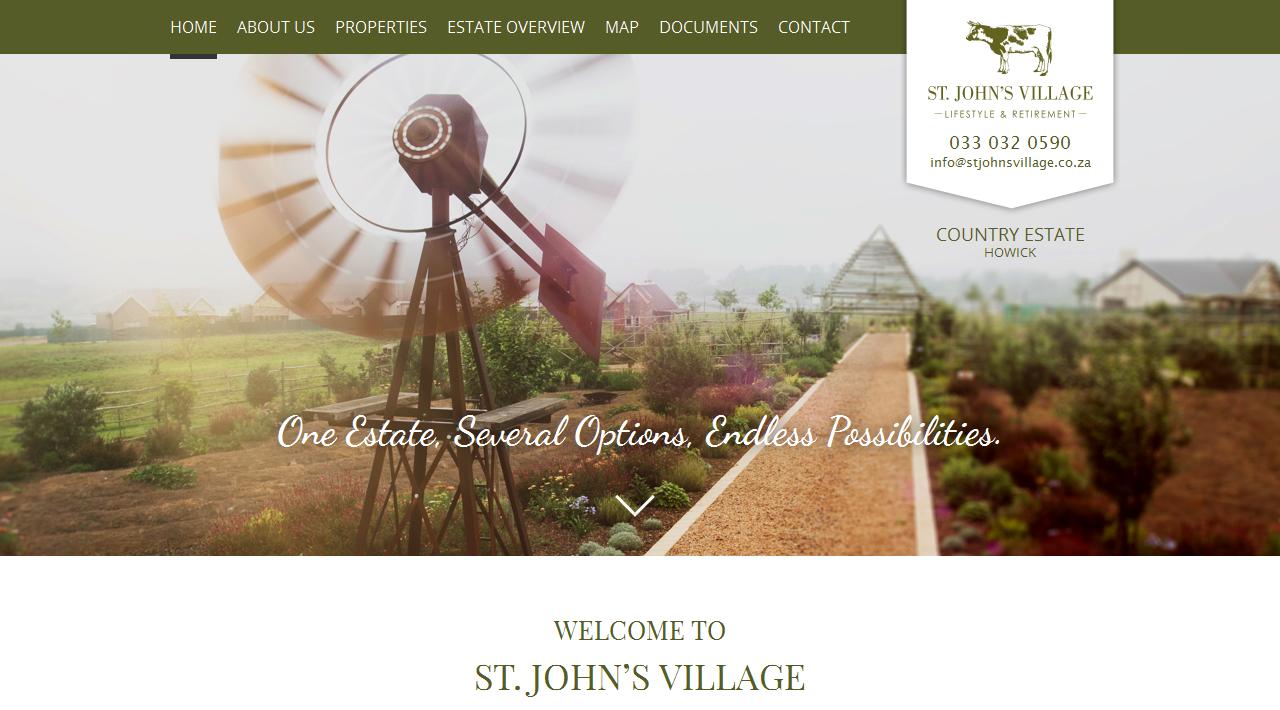 St John's Village Website Showcase | Prop Data Internet